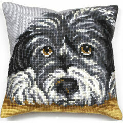 Faithful Dog Cushion Panel Cross Stitch Kit