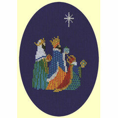 Three Kings Cross Stitch Christmas Card Kit