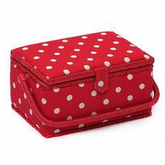 Medium Sewing Basket - Red Spot