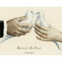 Wedding Doves Cross Stitch Kit
