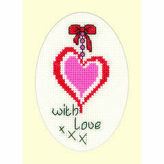 With Love Cross Stitch Card Kit