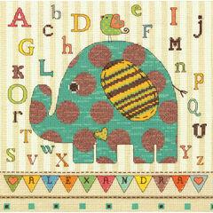 Baby Elephant ABC Cross Stitch Kit