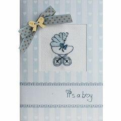 It's A Boy Cross Stitch Card Kit