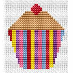 Sew Simple Cupcake Cross Stitch Kit