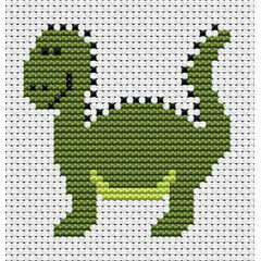 Sew Simple Dinosaur Cross Stitch Kit