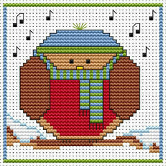 Round Robin Cross Stitch Christmas Card Kit