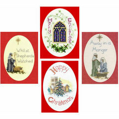 Traditional Collection Set Of 4 Christmas Card Cross Stitch Kits