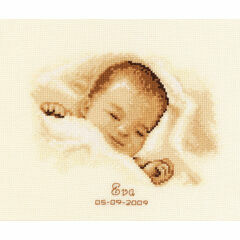 Sleeping Baby Cross Stitch Kit
