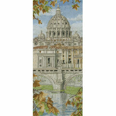 St Peter's Basilica Cross Stitch Kit
