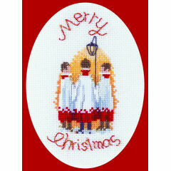 Carol Singers Cross Stitch Card Kit