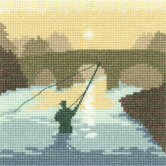 The Angler Cross Stitch Kit