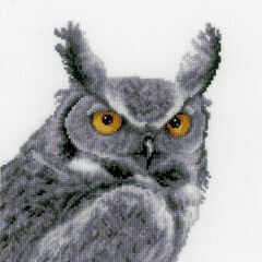 Grey Owl Cross Stitch Kit