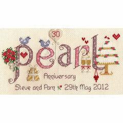 Pearl Anniversary Cross Stitch Kit