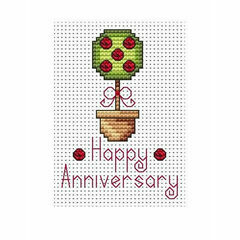 Anniversary Topiary Cross Stitch Card Kit