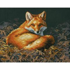 Sunlit Fox Cross Stitch Kit