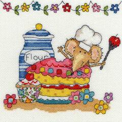 Baking Mouse Cross Stitch Kit