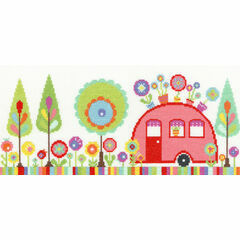 Funky Caravan Cross Stitch Kit