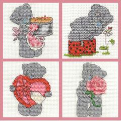 Tatty Teddy Mini Kits Set Of 4 Cross Stitch Kits (Set A)