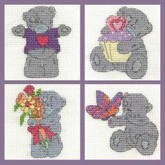 Tatty Teddy Mini Kits Set Of 4 Cross Stitch Kits (Set B)