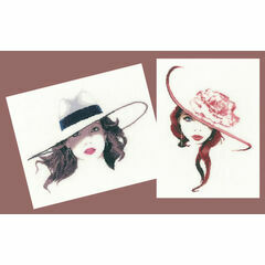 Roxy And Jasmine - Set Of 2 Elegance Cross Stitch Kits