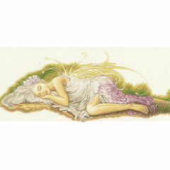 Sleeping Angel Cross Stitch Kit