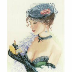 Lady With Lipstick Cross Stitch Kit
