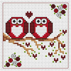 Anniversary Twitts Cross Stitch Card Kit