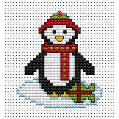 Christmas Penguin Cross Stitch Card Kit