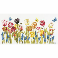 Tulips Cross Stitch Kit