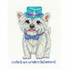 Westie Cute Is An Understatement Cross Stitch Kit