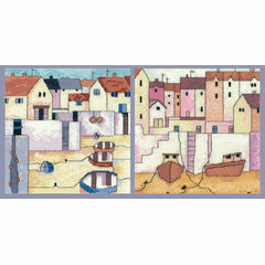 Set Of 2 - Harbour Wall & Harbour View Cross Stitch Kits