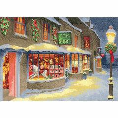 Christmas Toy Shop Cross Stitch Kit