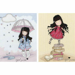 Gorjuss New Heights and Puddles Of Love Set Of Two Cross Stitch Kits