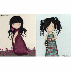 Gorjuss Pink Poppy And Lost For Words Set Of Two Cross Stitch Kits