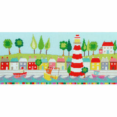 Funky Lighthouse Cross Stitch Kit