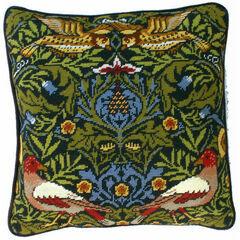 William Morris Bird Tapestry Cushion Panel Kit