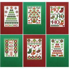 Xmas Ho Ho Ho Cross Stitch Card Kits - Set of 6