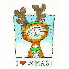I Love Christmas Cross Stitch Kit