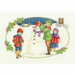 Building A Snowman Cross Stitch Kit