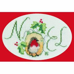 Robin Noel Cross Stitch Christmas Card Kit