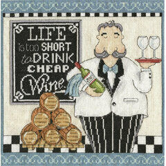 Cheap Wine Cross Stitch Kit