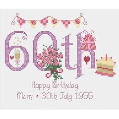 60th Birthday Cross Stitch Kit