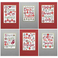 Christmas Carols 1 Cross Stitch Card Kits (Set Of 6)