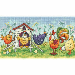 Happy Hens Cross Stitch Kit