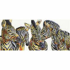 Wild Things Zebras Cross Stitch Kit