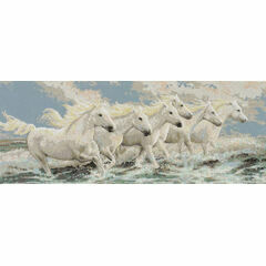 Seaside Horses Cross Stitch Kit