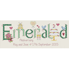 Emerald 55th Anniversary Cross Stitch Kit