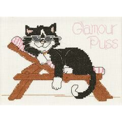 Glamour Puss Cross Stitch Kit