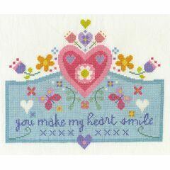 You Make My Heart Smile Cross Stitch Kit