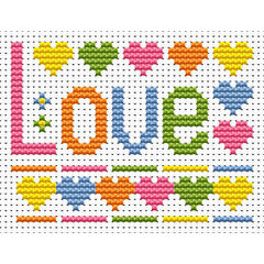 Sew Simple Love Cross Stitch Kit